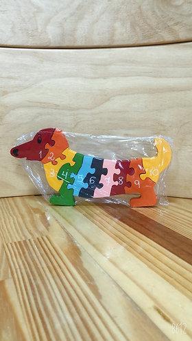 Quebra - Cabeça Números - Cachorro