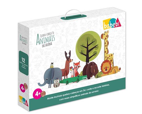 Quebra - Cabeça 3D - Animais da Savana