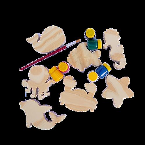 Kit Fundo do Mar para equilibrar e colorir