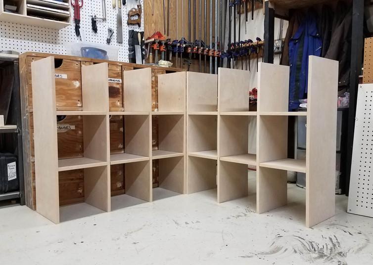 Test-Fitting Shelves
