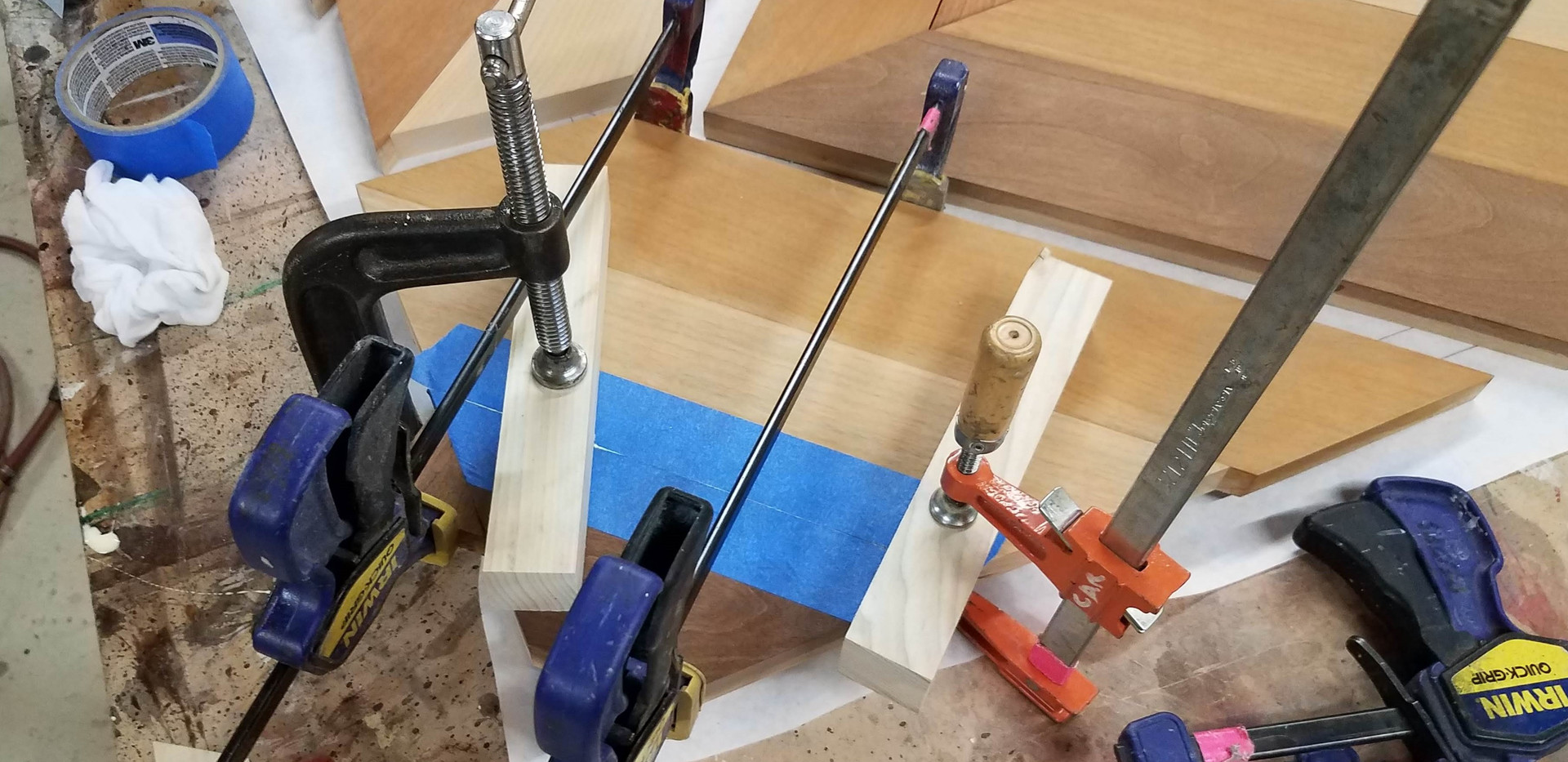 Gluing Corner Prior to Gluing Directly to Base Board