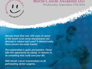 Mouth Cancer Awareness Day Guinan Dental, Dooradoyle, Limerick