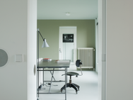 Enfilade werkkamer - woonkamer - keuken - slaapkamer