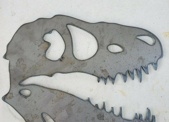 dinisour skull cnc art