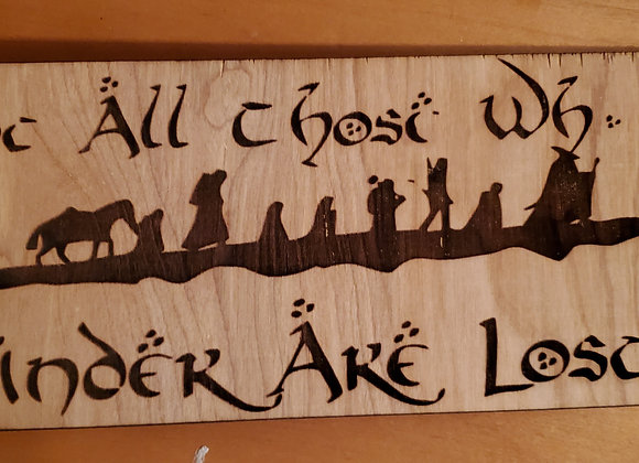 Lord of the rings wall art