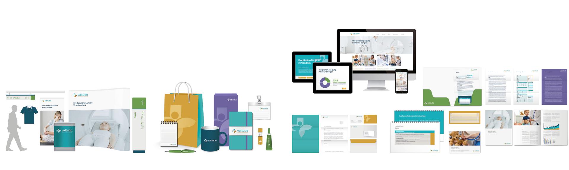 Corporate Design Lösung für Gesundheit