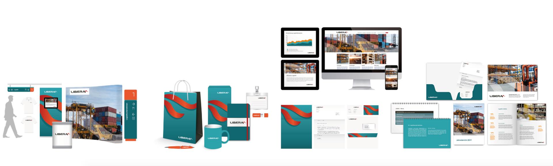 Corporate Design Lösung für Industrie Unternehmen Logistik