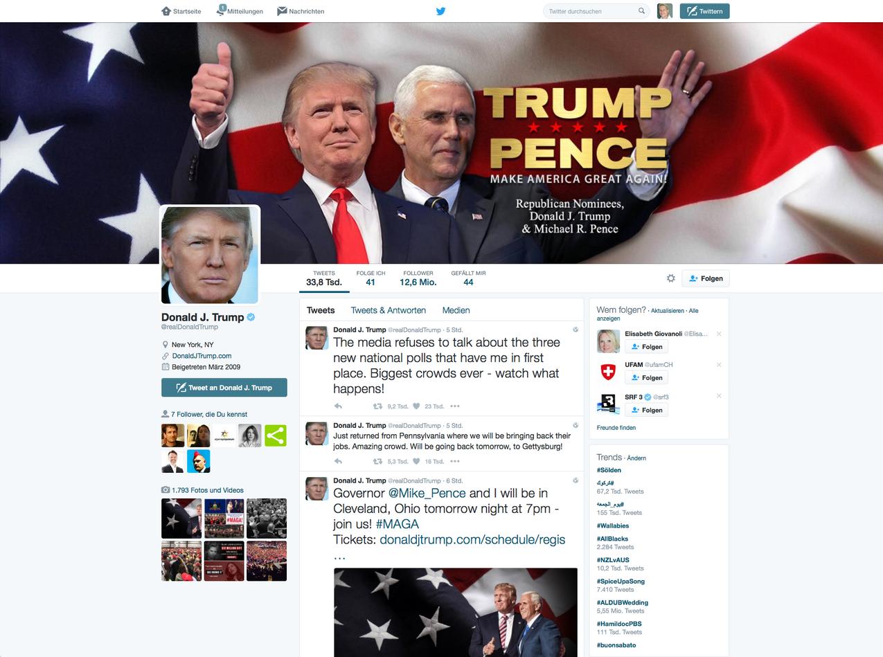 Trump - Twitter Account