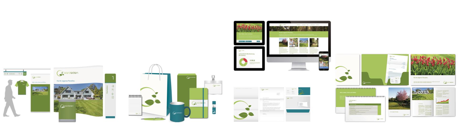 Corporate Design Lösung für Gartenbau