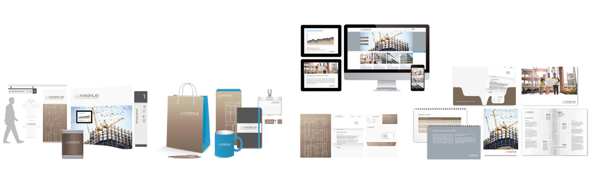 Corporate Design Lösung für Industrie Unternehmen für Baubetrieb