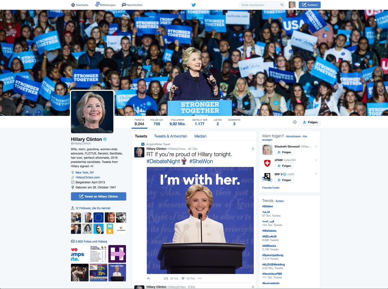 Hillary - Twitter Account
