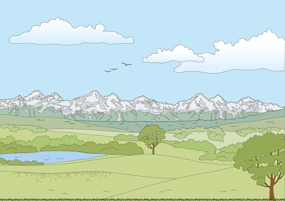 Architektur Illustration Landschaft_Zeic