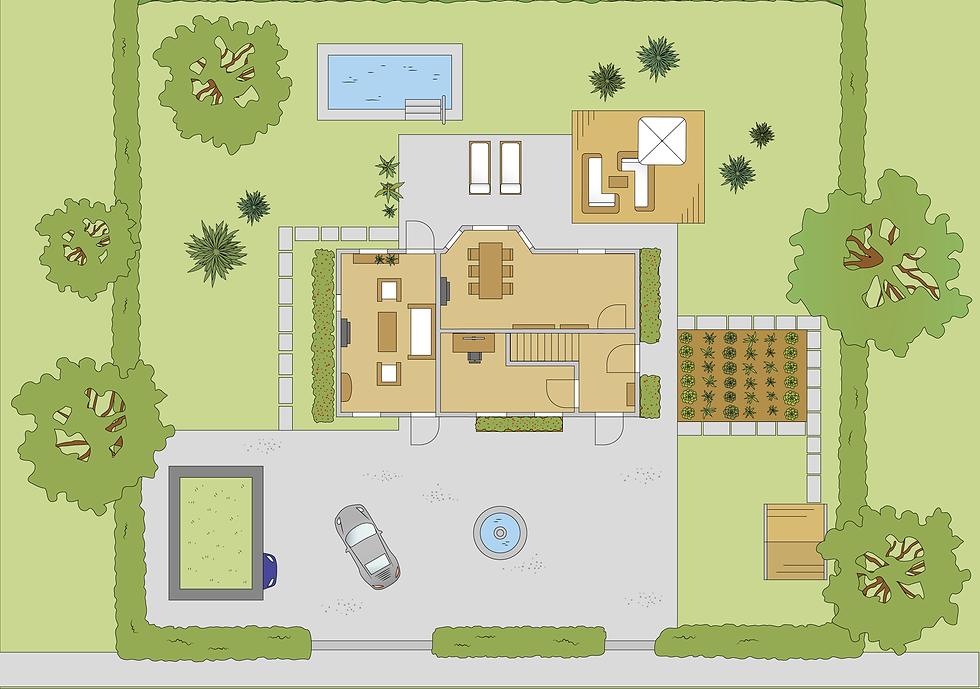 Architektur Illustration Plan_Zeichenflä