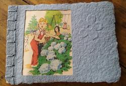 Papier lin avec dessin livre ancien