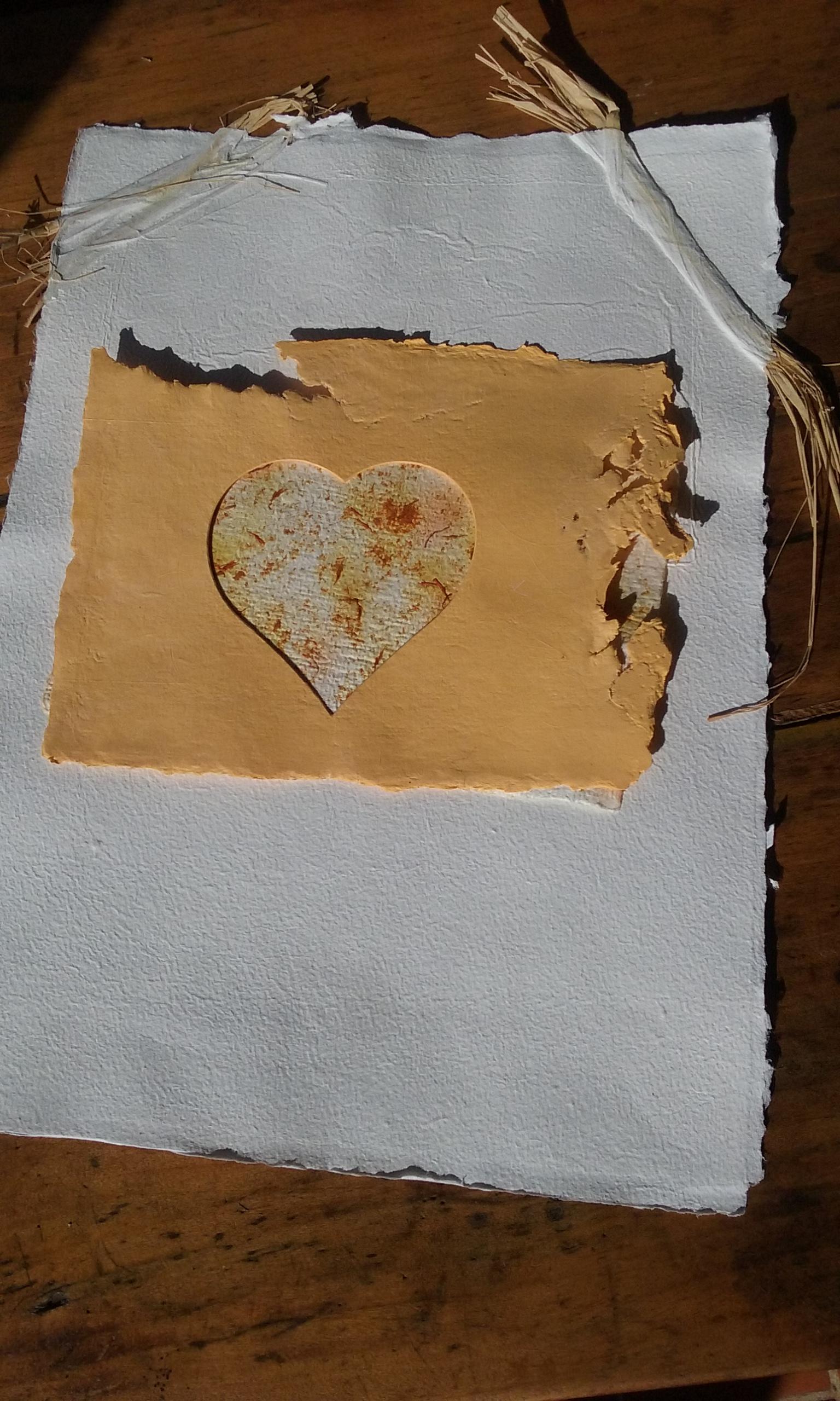 Papier création coeur