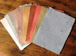 Papiers couleurs naturelles