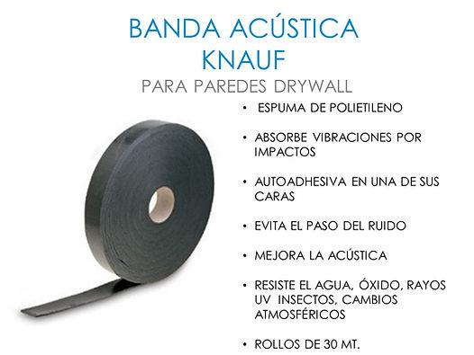 banda acustica knauf