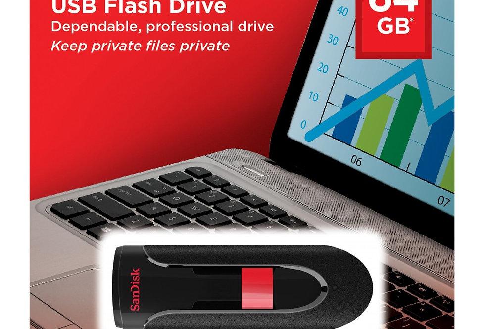 SanDisk Cruzer Glide 3.0 64gb USB Flash Drive Fast