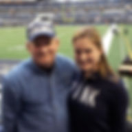 Father and Daughter at Dallas Cowboys AT&T Stadium