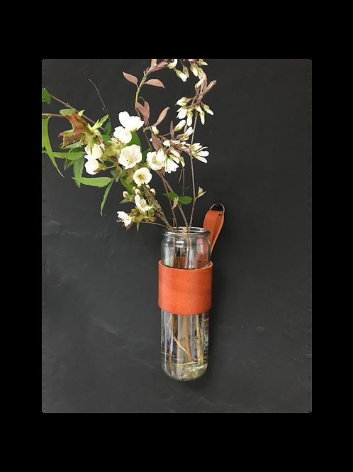 Hängende Vase cognac