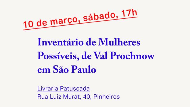 Inventário de Mulheres Possíveis em São Paulo