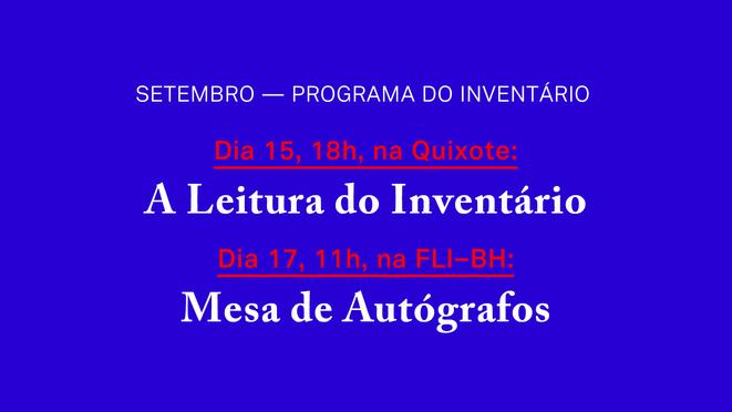 Setembro: programa do Inventário
