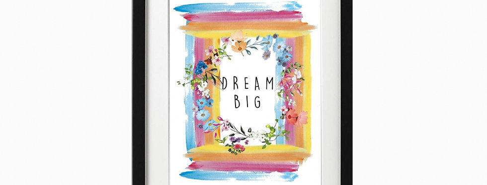 Dream Big Print - Wall Art