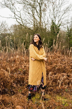 Luxury Knitwear Cara And The Sky Model Field Sustainable