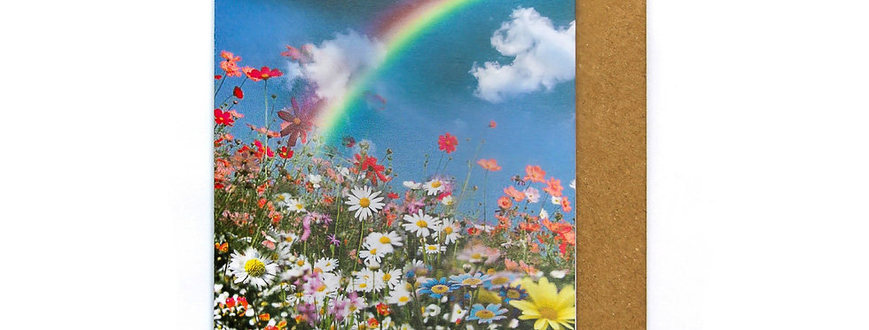 Rainbow Floral - Greetings Card