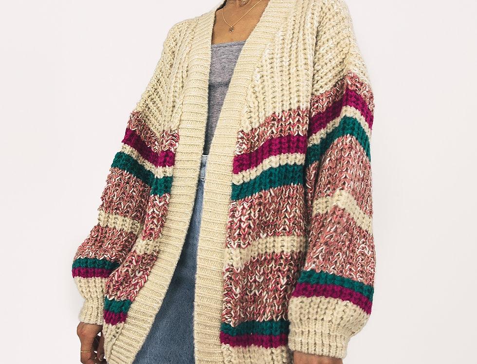 Mya Chunky Stripe Cardigan