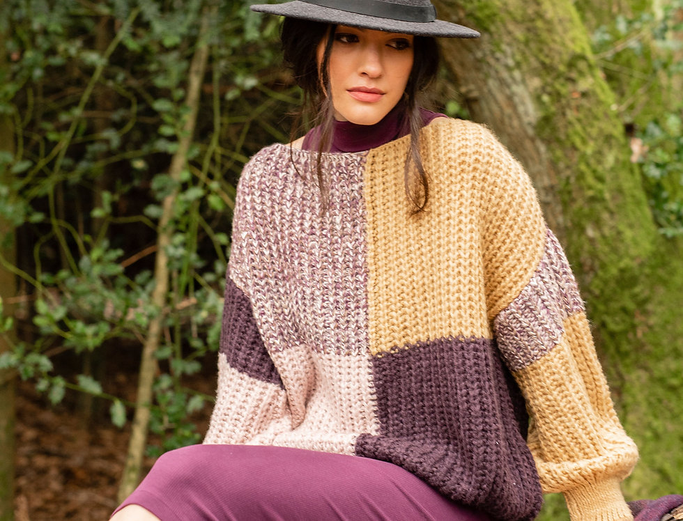 Laura Chunky Patchwork Jumper