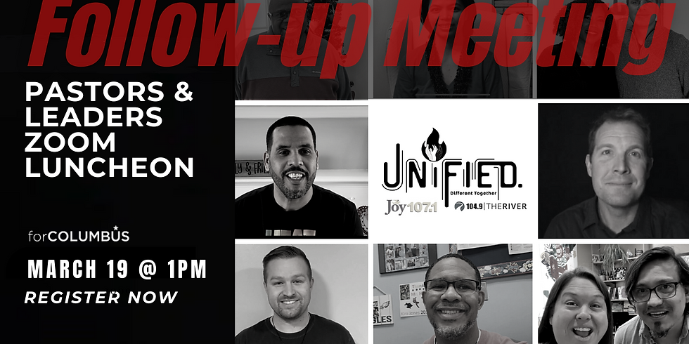 Unified: Follow-Up City-Wide Church Leaders Zoom Meeting