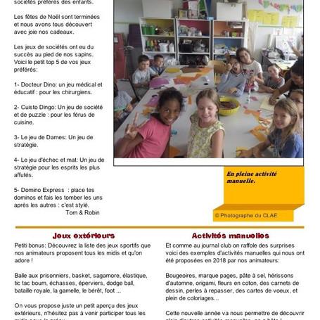 Le journal du CLAE Sainte-Famille des Minimes