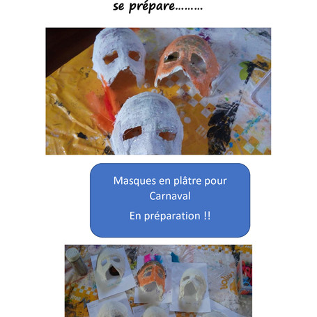 Au CLAE Ste Foy le Carnaval se prépare