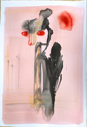 Gouache, ink, acrylic sur papier 55 x 34cm