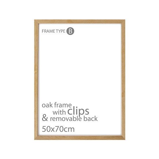 Basic frame - Oak 50x70cm