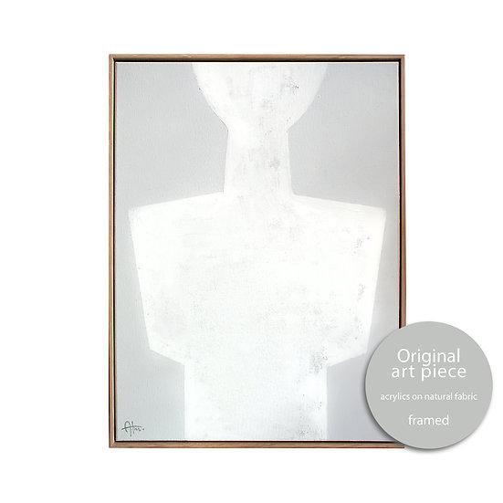 Cycladic body form • 40x55cm WITH FRAME