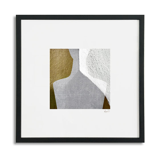 Framed Cycladic Figurine - 31x31cm