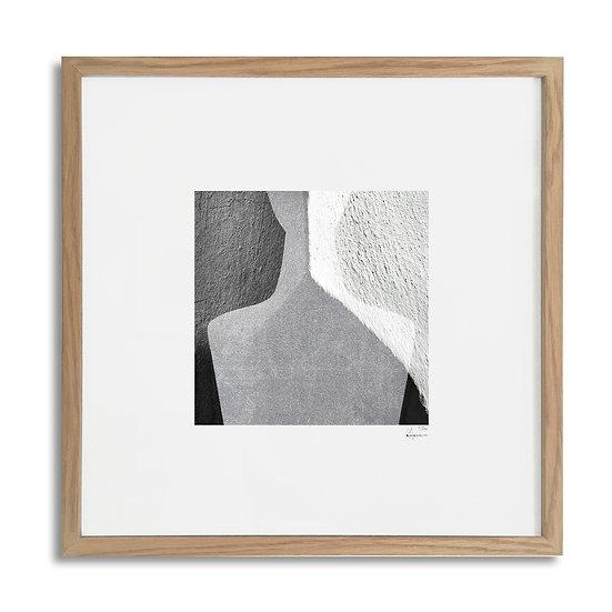 Framed Cycladic Figurine - 31x31cm / oak