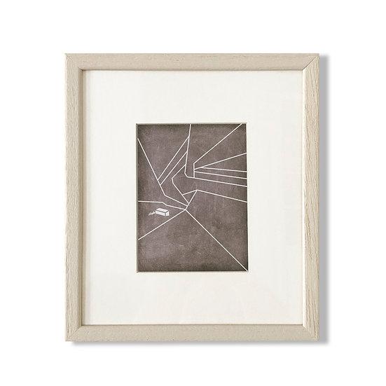 Framed Cycladic Shape D - 20x23cm