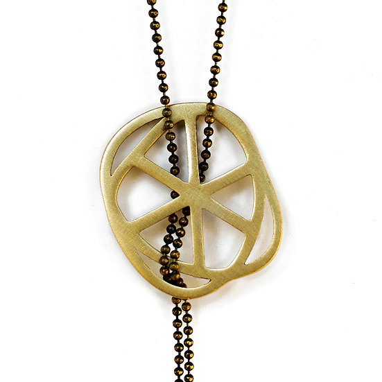 Circle Bronze Necklace