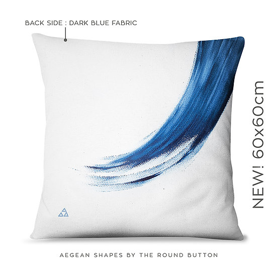 large cushion cover 60x60cm : wave
