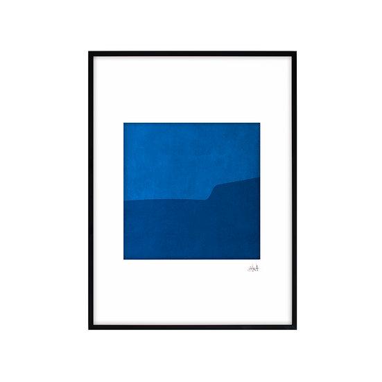 Deep Blue 01 - framed with mat