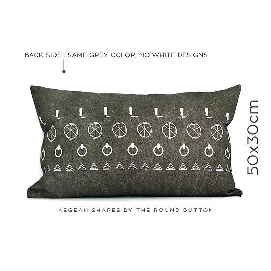 cushion cover 50x30cm : grey 04