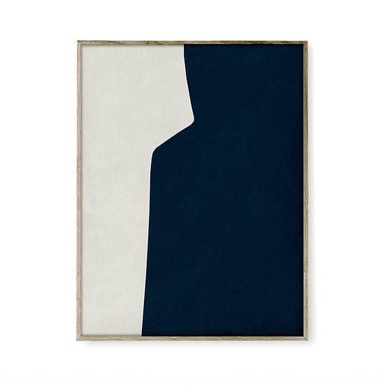 Cycladic Form Dark Blue 1
