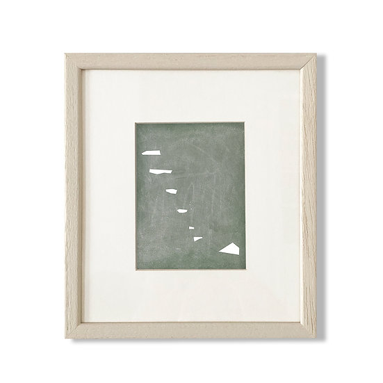 Framed Cycladic Shape C - 20x23cm
