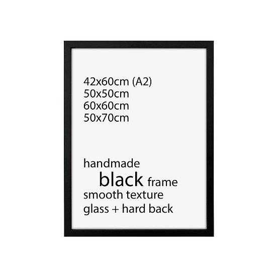 Black frame for 42x59,5cm, 50x50cm, 60x60cm , 50x70cm