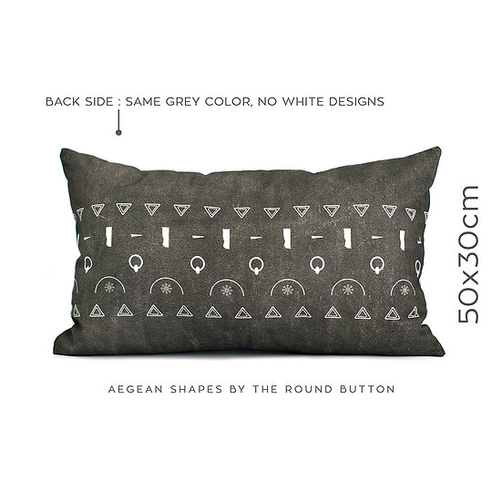 cushion cover 50x30cm : grey 05