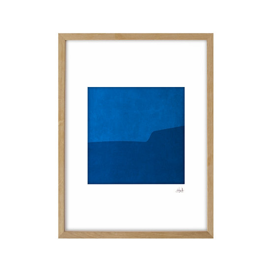 Deep Blue 01 - framed with mat