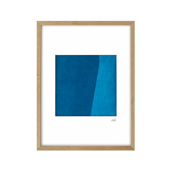 Just Blue 02 - framed with mat